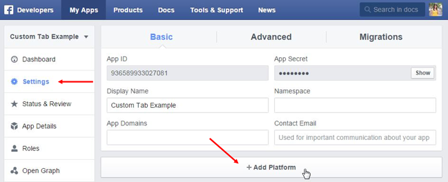 Facebook desarrolladores