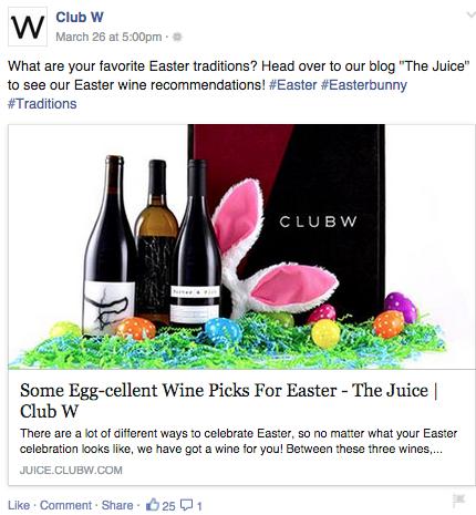 facebook wine ad