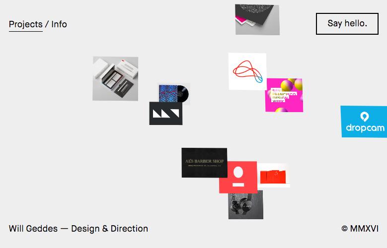 Tendencias de diseño web Will Geddes