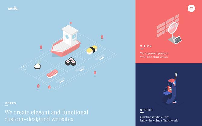 Tendencias de diseño web Waaark