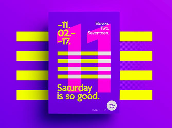 Ejemplo de color como elemento de diseño gráfico