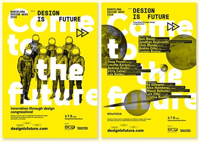 ejemplo de contraste en diseño gráfico