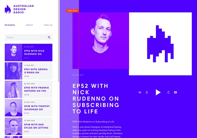 Tendencias de diseño web Australian Design Radio