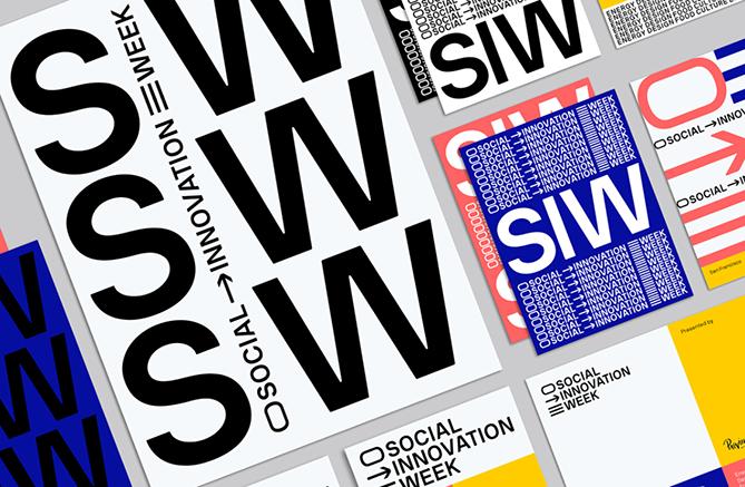 Ejemplo de uso de escala como elemento de diseño gráfico