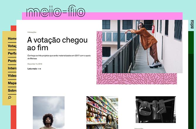 Tendencias de diseño web Melissa Meio-Fio