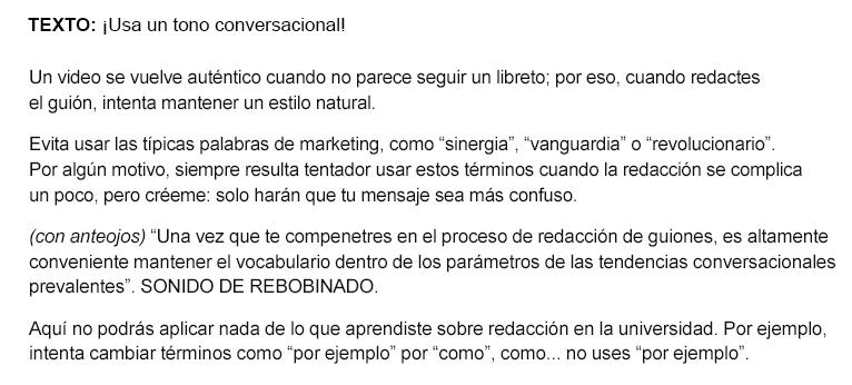 ejemplo_de_cómo_redactar_un_guión_mantener_el_tono_conversacional