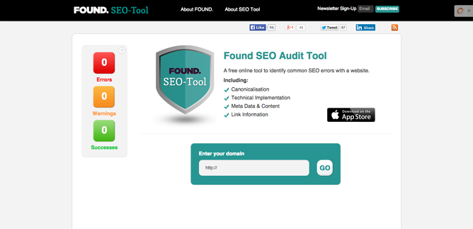 SEO Audit Tool Found