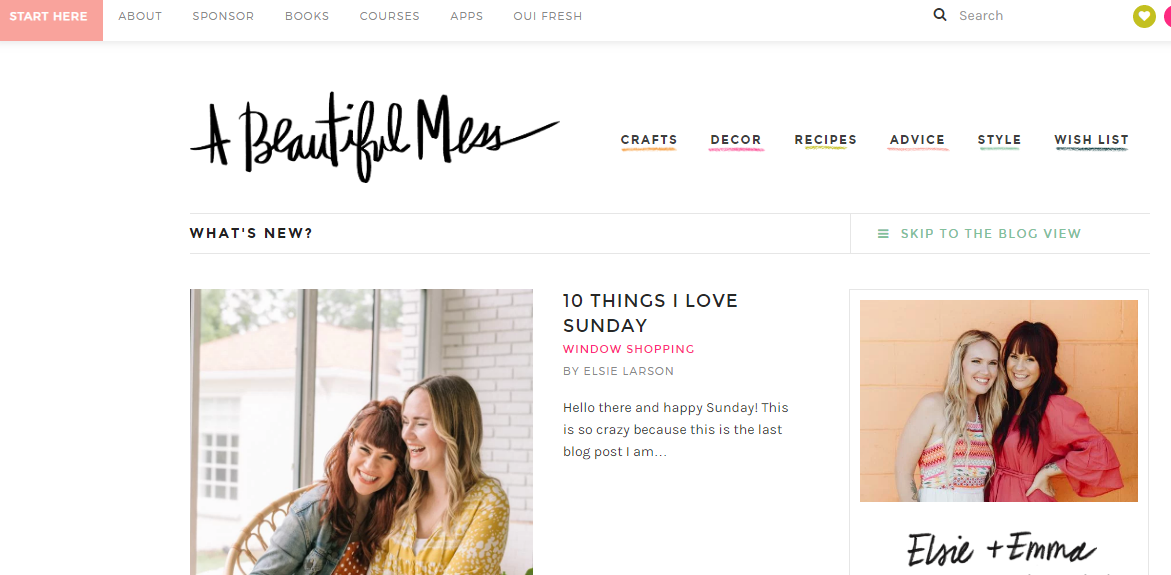 A beautiful mess blogs de diseño