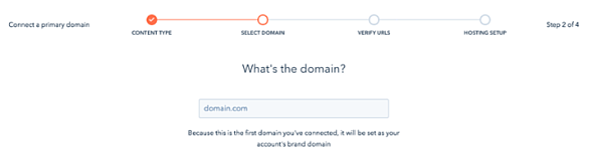 Agregar dominio CMS Hub
