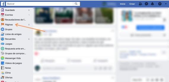 Algoritmo de Facebook- ir hacia páginas