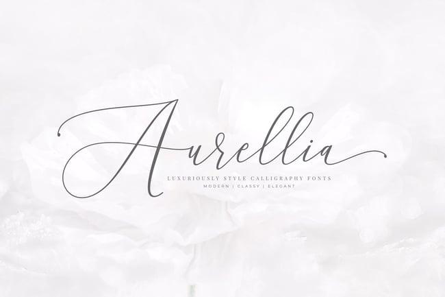 Aurellia tipografías para logos