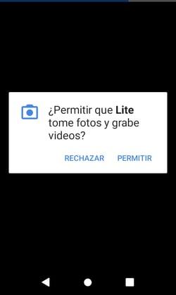 Autorización para usar Facebook Live en dispositivo móvil