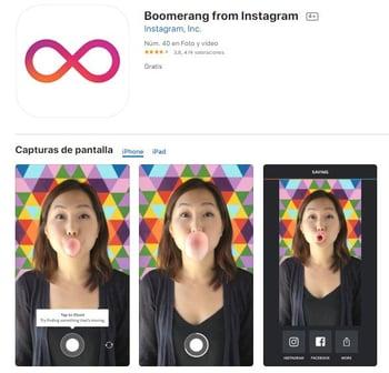 Boomerang en iOS