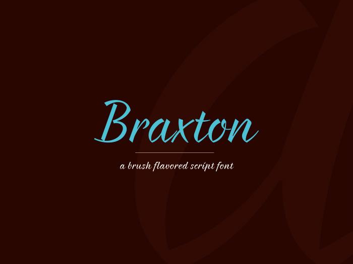Fuentes para logotipos: Braxton tipografías para logos