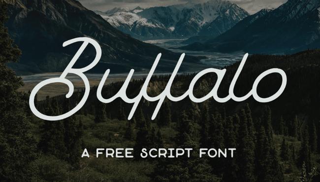 Buffalo tipografías para logos