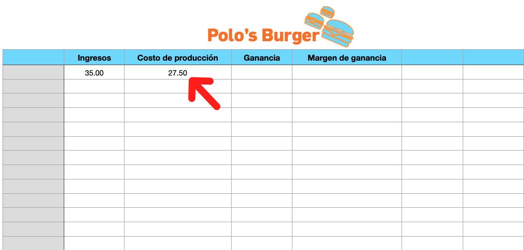 Calcular margen de ganancia en Excel