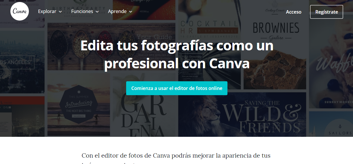 Canva editor de fotos