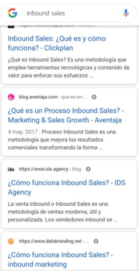 Características de un blog- títulos en versión móvil
