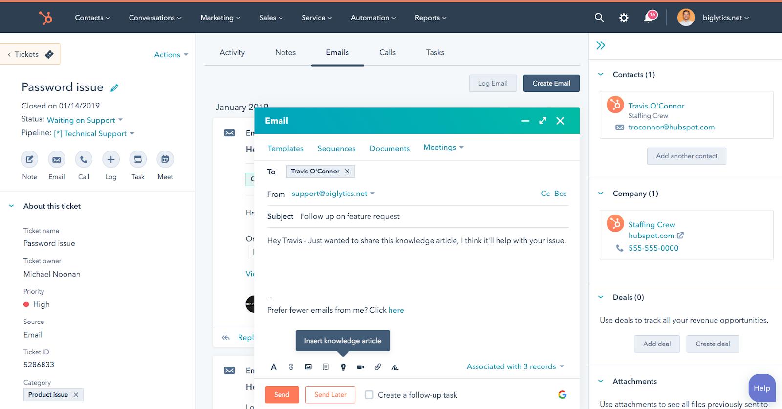 Chat en vivo HubSpot