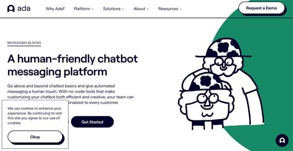 Chatbot de inteligencia artificial Ada
