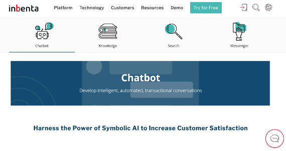 Chatbot de inteligencia artificial Inbenta