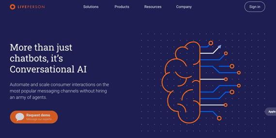Chatbot de inteligencia artificial Liveperson
