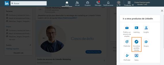 Cómo acceder al Sales Navigator de LinkedIn