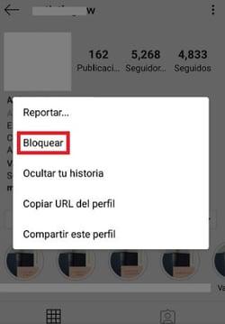 Cómo bloquear a un usuario en Instagram