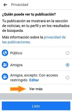 Cómo cambiar quién puede ver tu publicación en Facebook Live
