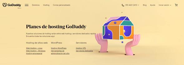 Cómo crear un blog- opciones de hosting de GoDaddy