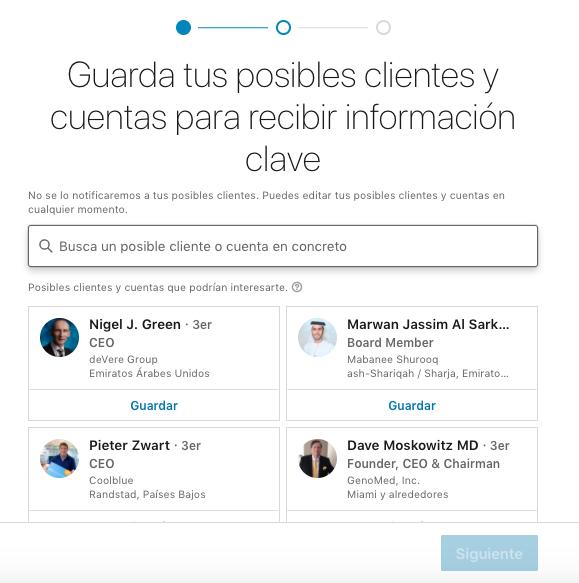 Cómo guardar clientes y cuentas en Sales Navigator de LinkedIn