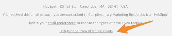 Cómo hacer que un correo no llegue como spam- botón de desuscribir