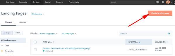 Cómo hacer un sitio web en HubSpot- nombrar página