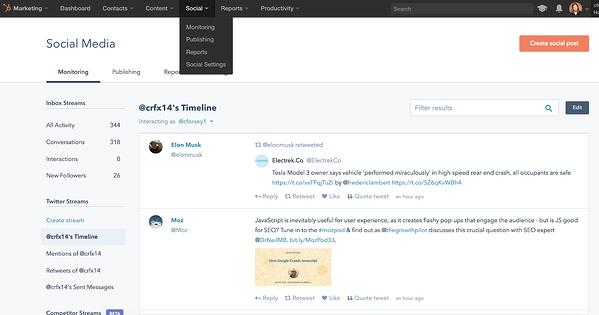 Cómo publicar en redes sociales desde HubSpot