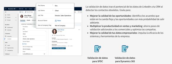Cómo validar la información de Sales Navigator en tu CRM