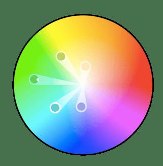 Colores análogos en la teoría del color