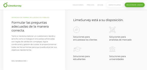 Creador de cuestionarios para el feedback de clientes LimeSurvey