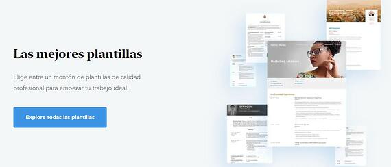 Creador de currículum gratis de Visual CV