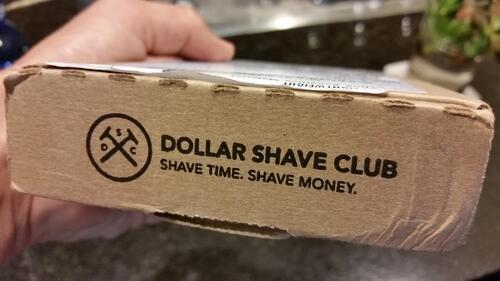 Eslogan de Dollar Shave Club.