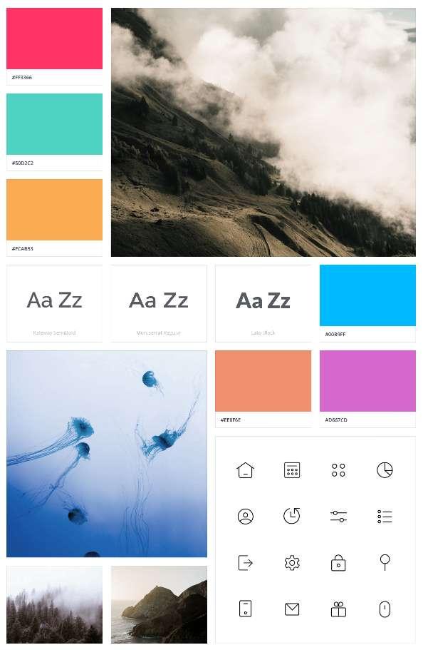 Herramienta para moodboards: Invision App