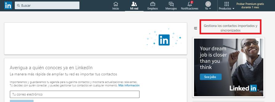 Gestionar contactos en LinkedIn, paso 4