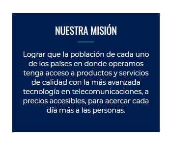 Ejemplo de misión empresarial de América Móvil