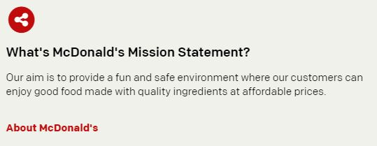 Misión de McDonald's