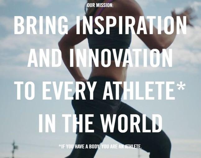 Ejemplo de misión empresarial: Nike