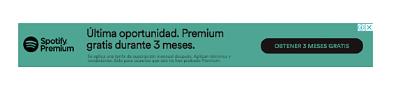 Ejemplo de banner promocional de Spotify