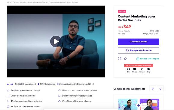 Ejemplo de campaña de Google Ads (AdWords) de Crehana