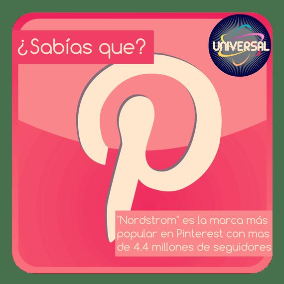 Ejemplo de infografía unigráfica sobre la marca más popular en Pinterest