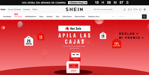 Ejemplo de marketing de temporada- Shein