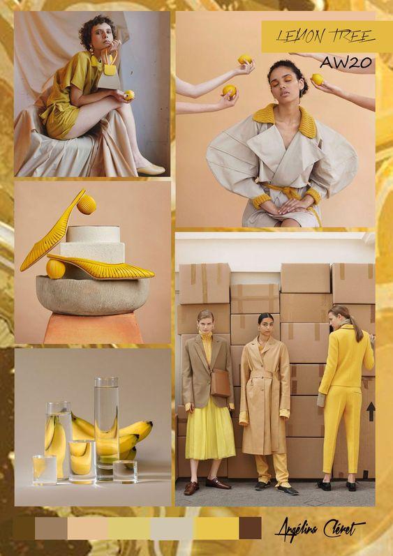 Ejemplo de moodboard para la industria de la moda
