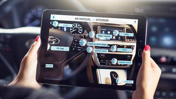 Ejemplo de realidad aumentada de Hyundai